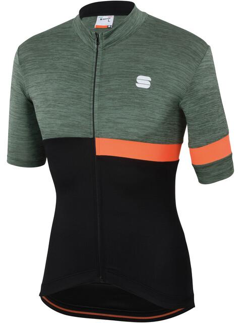Sportful Giara Jersey Men Dry Green/Black/Orange SDR